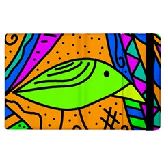 Green bird Apple iPad 2 Flip Case