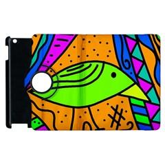 Green bird Apple iPad 2 Flip 360 Case