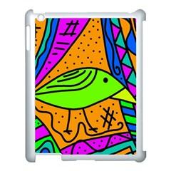 Green bird Apple iPad 3/4 Case (White)