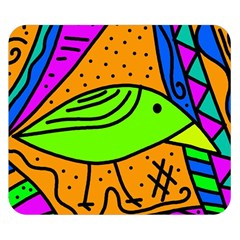 Green bird Double Sided Flano Blanket (Small)