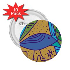Blue bird 2.25  Buttons (10 pack)