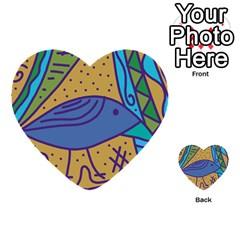 Blue bird Multi-purpose Cards (Heart)