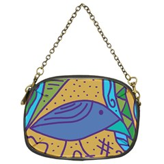 Blue bird Chain Purses (Two Sides)
