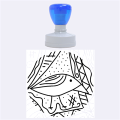 Blue bird Rubber Round Stamps (Large)