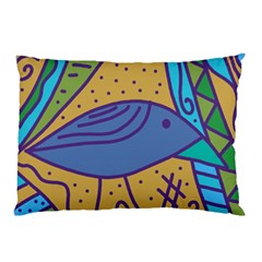 Blue bird Pillow Case (Two Sides)