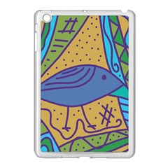 Blue bird Apple iPad Mini Case (White)