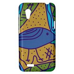 Blue bird HTC Desire VT (T328T) Hardshell Case