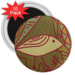 Brown bird 3  Magnets (10 pack)