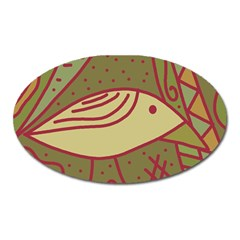 Brown bird Oval Magnet