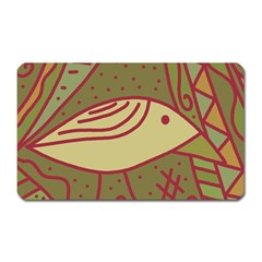 Brown bird Magnet (Rectangular)