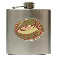 Brown bird Hip Flask (6 oz)