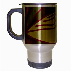 Brown bird Travel Mug (Silver Gray)