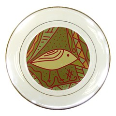 Brown bird Porcelain Plates