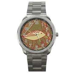 Brown bird Sport Metal Watch
