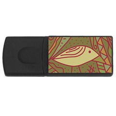 Brown bird USB Flash Drive Rectangular (4 GB)
