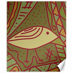 Brown bird Canvas 8  x 10
