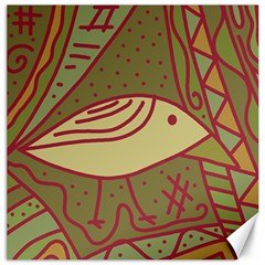 Brown bird Canvas 20  x 20