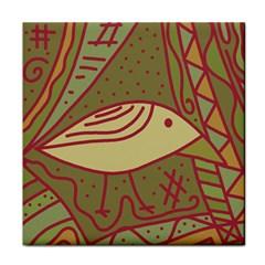 Brown bird Face Towel