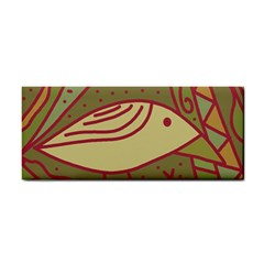 Brown Bird Hand Towel
