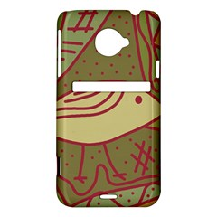 Brown bird HTC Evo 4G LTE Hardshell Case