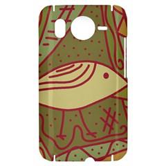 Brown bird HTC Desire HD Hardshell Case