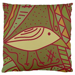 Brown bird Large Cushion Case (One Side)