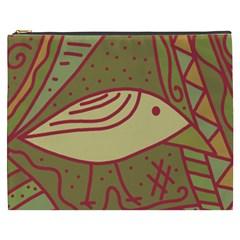 Brown bird Cosmetic Bag (XXXL)