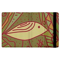 Brown bird Apple iPad 3/4 Flip Case