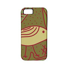 Brown bird Apple iPhone 5 Classic Hardshell Case (PC+Silicone)