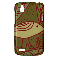 Brown bird HTC Desire V (T328W) Hardshell Case