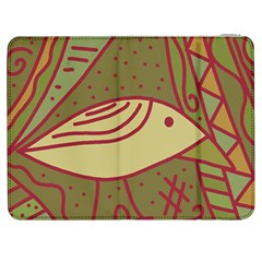 Brown bird Samsung Galaxy Tab 7  P1000 Flip Case