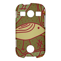 Brown bird Samsung Galaxy S7710 Xcover 2 Hardshell Case