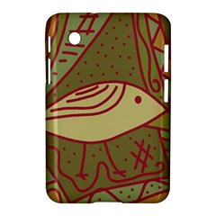 Brown bird Samsung Galaxy Tab 2 (7 ) P3100 Hardshell Case