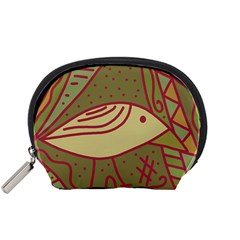 Brown bird Accessory Pouches (Small)