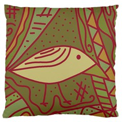 Brown bird Large Flano Cushion Case (Two Sides)