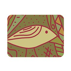 Brown bird Double Sided Flano Blanket (Mini)