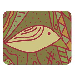 Brown bird Double Sided Flano Blanket (Large)