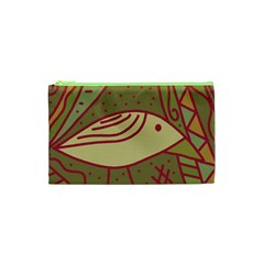 Brown bird Cosmetic Bag (XS)