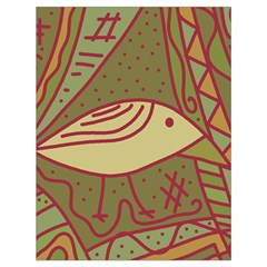 Brown bird Drawstring Bag (Large)
