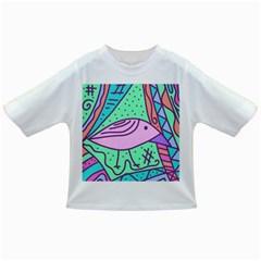 Pink pastel bird Infant/Toddler T-Shirts
