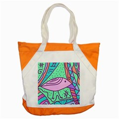 Pink pastel bird Accent Tote Bag