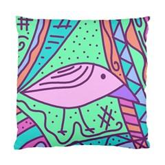 Pink pastel bird Standard Cushion Case (One Side)