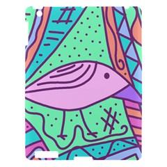 Pink pastel bird Apple iPad 3/4 Hardshell Case