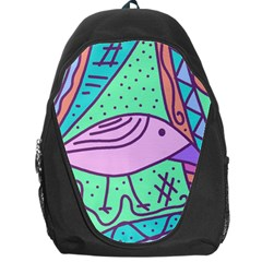 Pink pastel bird Backpack Bag