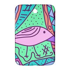 Pink pastel bird Samsung Galaxy Note 8.0 N5100 Hardshell Case