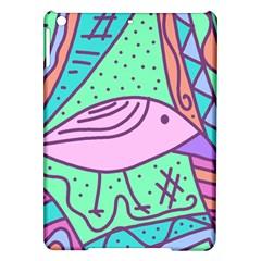 Pink pastel bird iPad Air Hardshell Cases