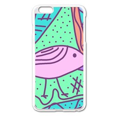 Pink pastel bird Apple iPhone 6 Plus/6S Plus Enamel White Case