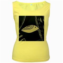 Blue bird Women s Yellow Tank Top