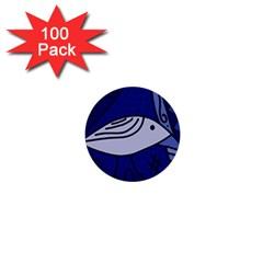 Blue bird 1  Mini Buttons (100 pack)