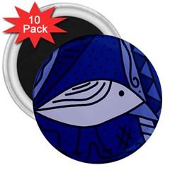 Blue bird 3  Magnets (10 pack)